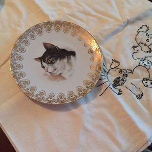 Vintage Decorative Cat Dish Limoges France